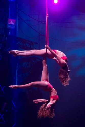 il Duo Lyrical Lyra in ALIS Christmas Gala - Photo: Le Cirque WTP