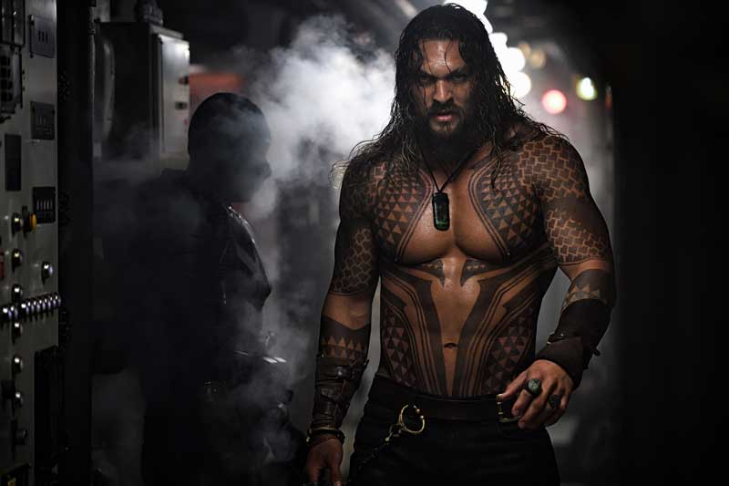 Jason Momoa è Aquaman nel film Aquaman. Copyright: © 2018 Warner Bros. Entertainment Inc. Photo Credit: Jasin Boland