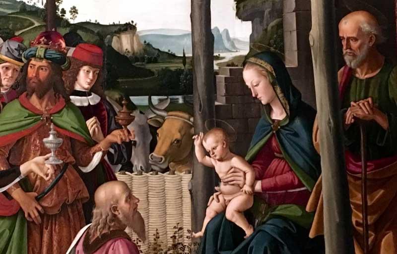 Perugino, L'Adorazione dei Magi: dettagli - Foto by MaSeDomani