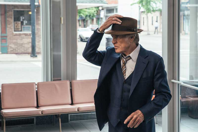Robert Redford in una scena del film Old Man & the Gun