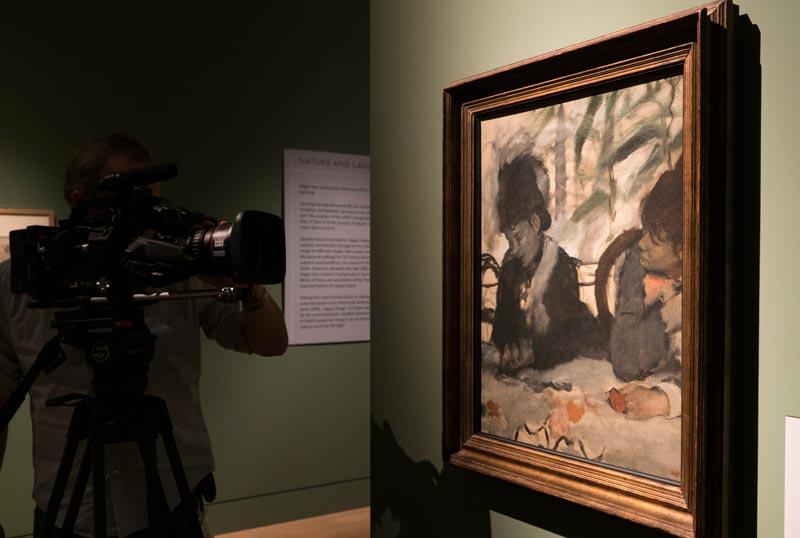 Degas Passione e Perfezione: sul set al Fitzwilliam Museum, Cambridge (c) EOS - David-Bickerstaff