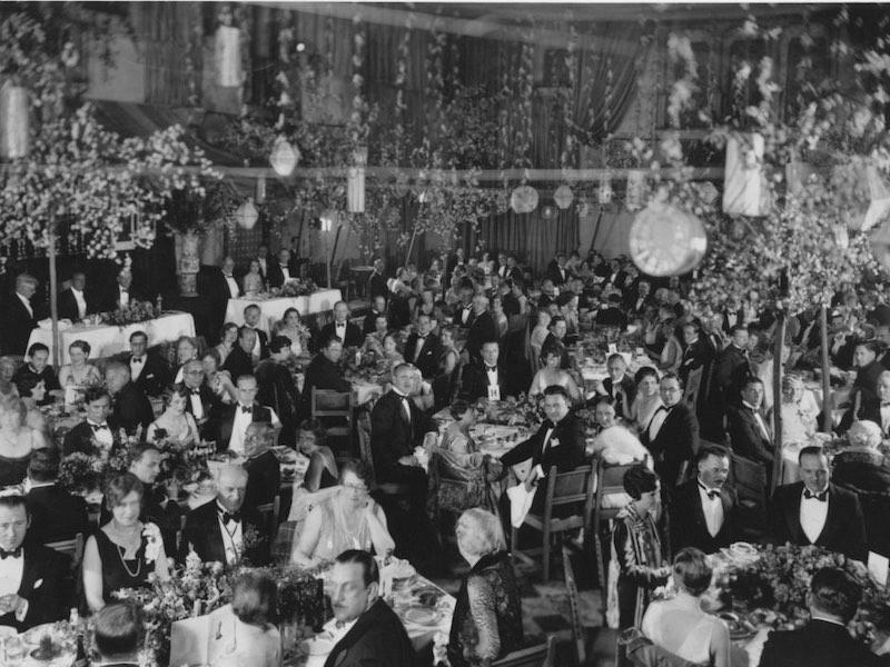 Il banchetto della prima cerimonia degli Oscar nel 1929