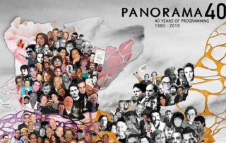 un dettaglio del poster della sezione Panorama 40 - Artwork: Marion Habringer