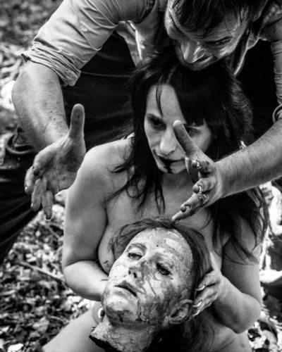 il regista sul set del film horror Notte Nuda - Photo: courtesy of Lorenzo Lepori
