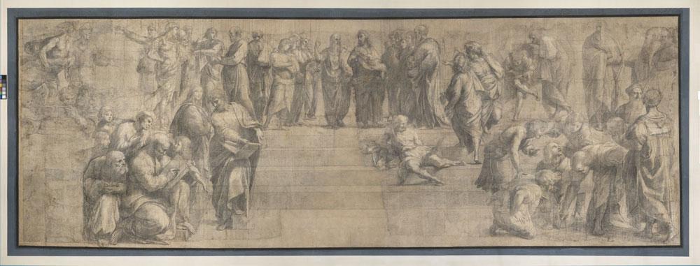 Raffaello Sanzio, Cartone (c) Veneranda Biblioteca Ambrosiana