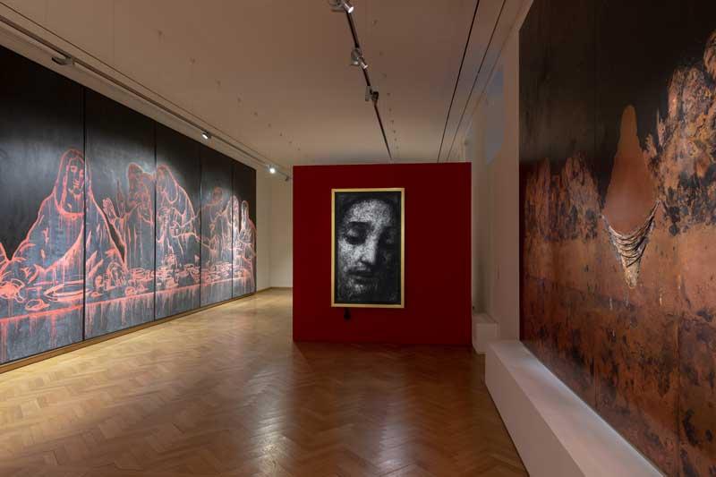 Uno scorcio dell'allestimento della mostra L'Ultima Cena dopo Leonardo - Photo by Roberto Marossi, courtesy Fondazione Stelline