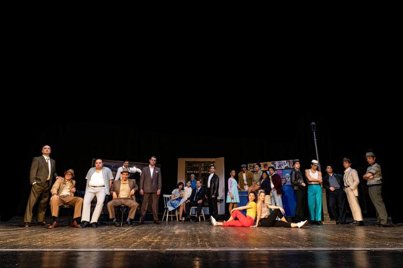 Il cast del musical A Bronx Tale - Foto di Sebastiano Maccarone