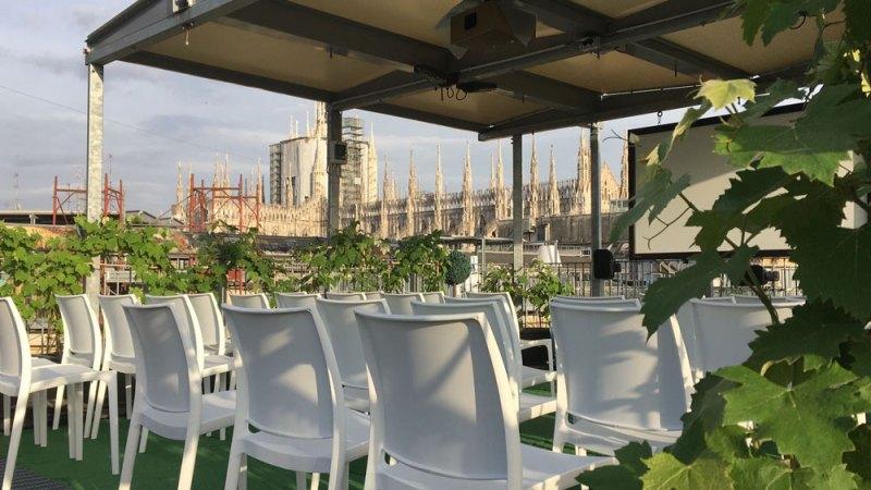 Il Cinema Bianchini sui tetti di Galleria Vittorio Emanuele