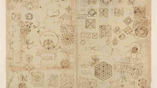 Leonardo da Vinci, Codice Atlantico, foglio 482 recto, dettaglio