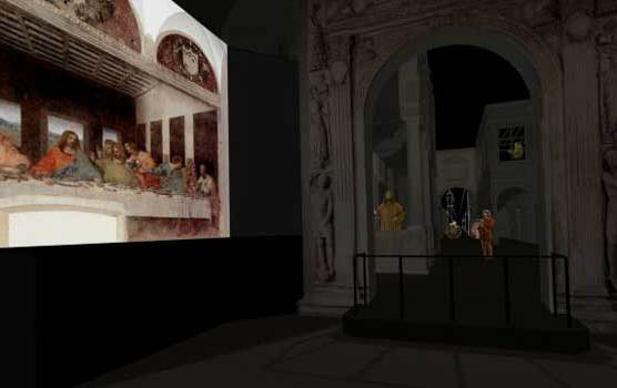 Leonardo mai visto: Rendering proiezione multimediale Progetto di Culturanuova s.r.l. - Massimo Chimenti