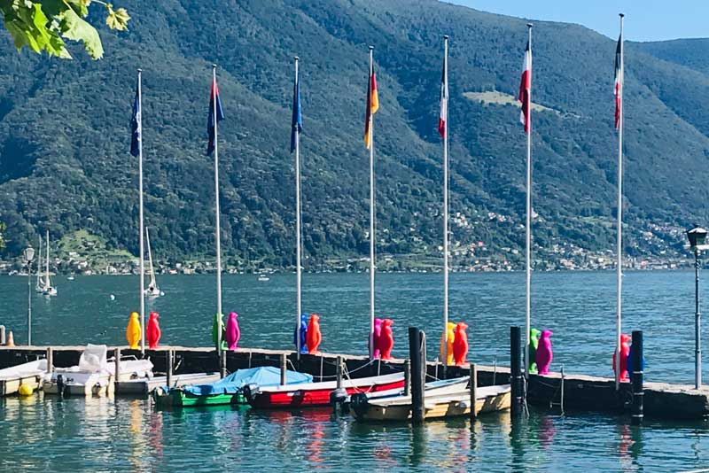 Cracking Art Ascona, i pinguini sulla banchina - Photo by MaSeDomani