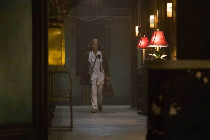 Jodie Foster in una scena del film Hotel Artemis - Photo: courtesy of 01 Distribution