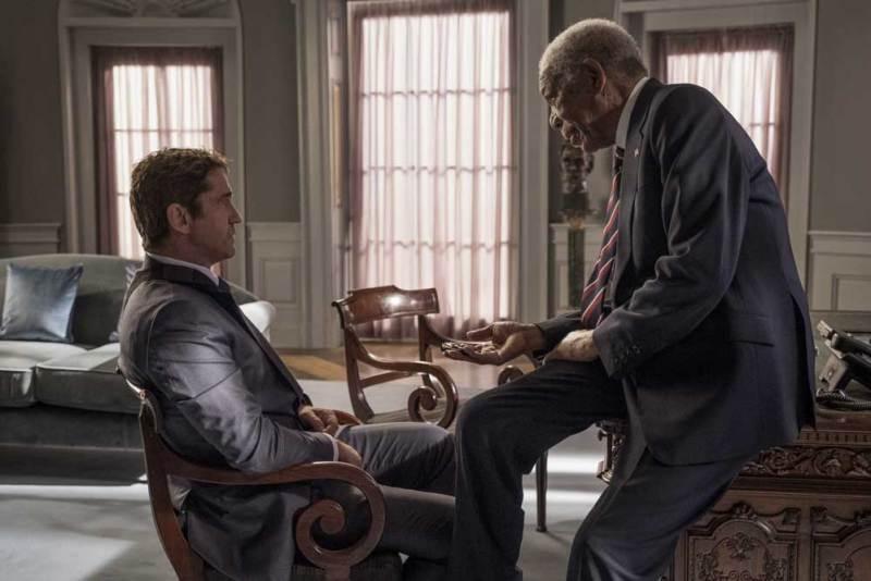 Gerard Butler e Morgan Freeman in Attacco al Potere 3 - Photo: courtesy of Lucky Red