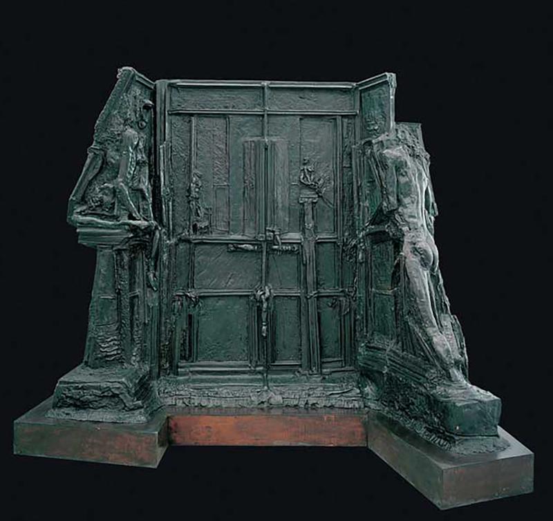 Augusto Perez, La notte (Edipo e la Sfinge), bronzo, 350 x 134 x h 274.