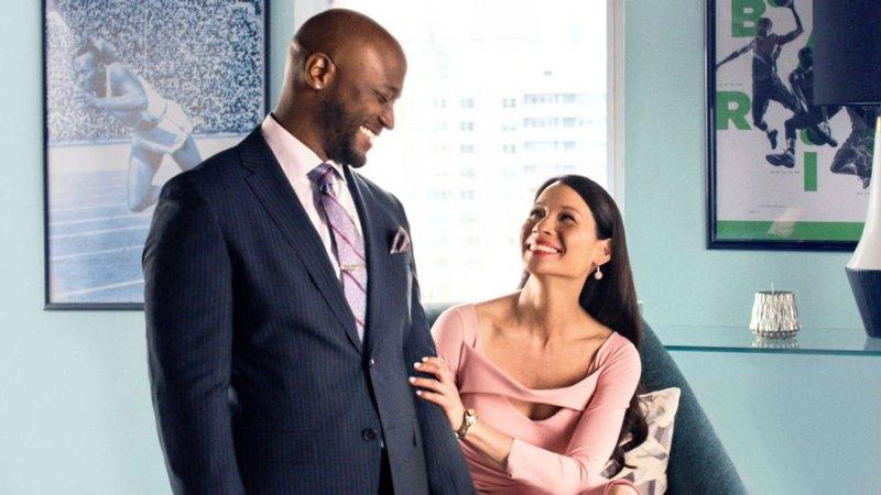 Taye Diggs e Lucy Liu in una scena di Set it Up