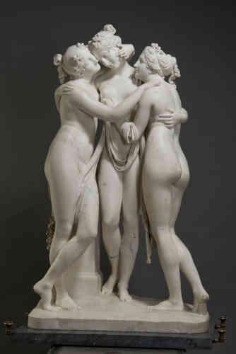 Antonio Canova, Le Grazie, 1812 – 1816. Marmo, 182 x 103 x 46 cm. San Pietroburgo, Museo Statale Ermitage, Photograph © The State Hermitage Museum, 2019