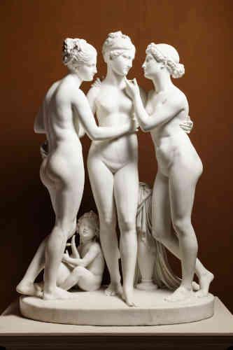Bertel Thorvaldsen, Le Grazie con Cupido, 1817 – 1819. Marmo, 172,7 x 119,5 x 65,3 cm. Copenaghen, Thorvaldsens Museum, www.thorvaldsensmuseum.dk