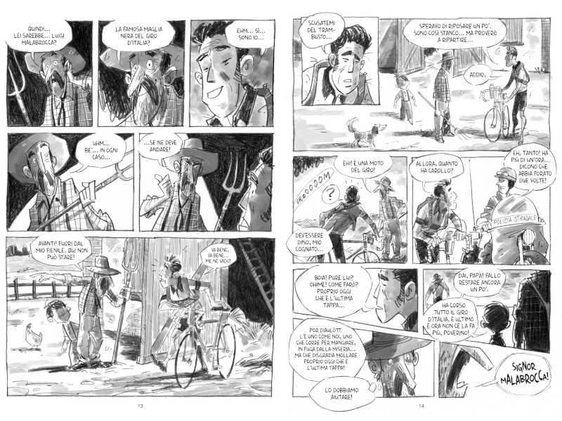 Due tavole di Malabrocca – Un uomo solo… al fondo, edito da ReNoir Comics. Photo Courtesy: ReNoir Comics