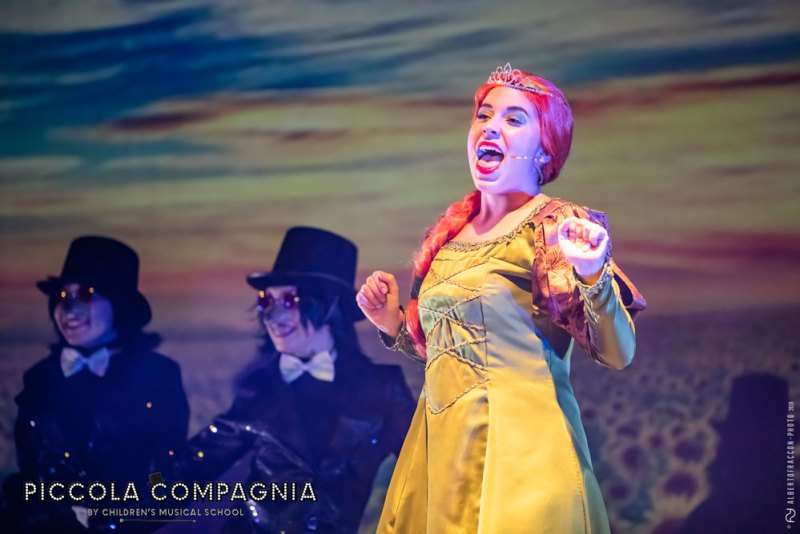Sofia Menegolli in Shrek il Musical Jr. Photo: Alberto Fraccon.