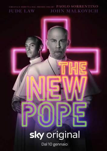 La locandina ufficiale della serie TV The New Pope.