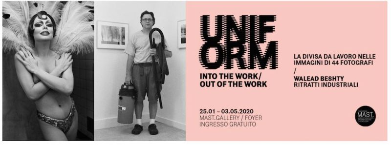 UNIFORM into the work: out of the work banner mostra