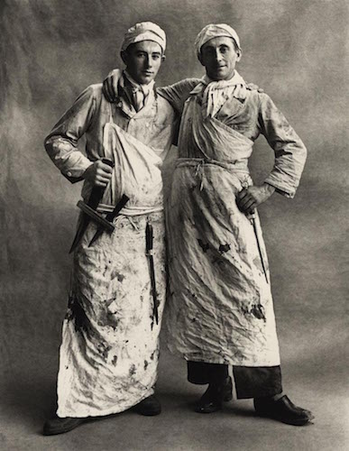 UNIFORMS INTO THE WORK Irving Penn, Les Garçons Bouchers, Paris, 1950 © Condé Nast