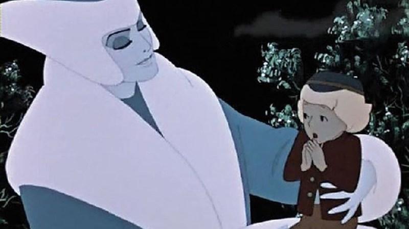 Un'immagine del film La Regina delle Nevi.
