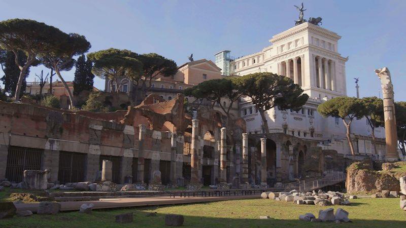 Sette Meraviglie, Nella foto: i fori a Roma. Courtesy of Sky Italia