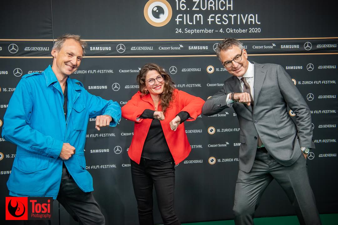 ZFF 2020 - director Marianne Hougen Moraga with director Estephan Wagner and Christian Jungen © Tosi Photography