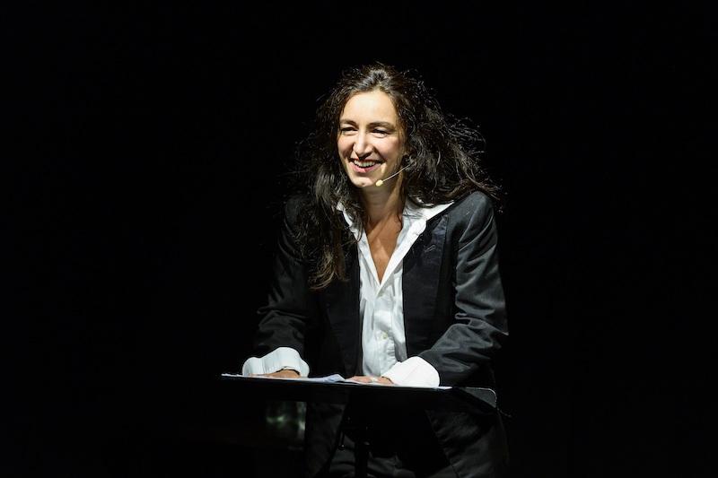 spettacolo Piero Ciampi, Arianna Scommegna. Photo: Serena Serrani