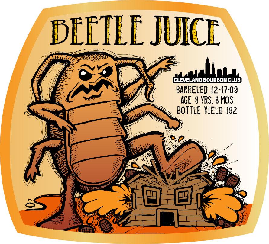 Beetle Juice Bourbon Label