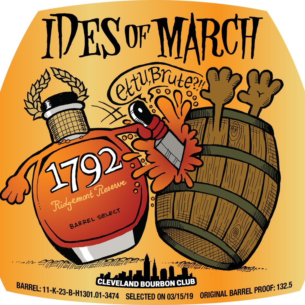 Ides of March Bourbon Label