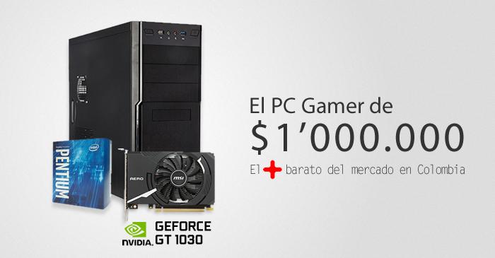 PC gamer barato de 1 millón de pesos en Colombia