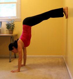 yoga hacer el pino