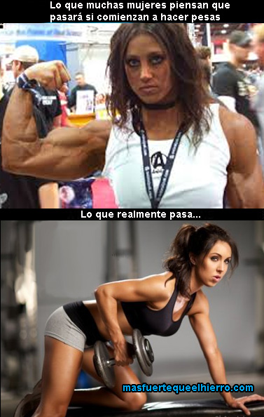 chicas y pesas
