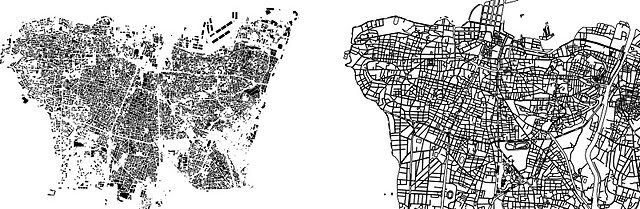 (1) mass versus street footprint