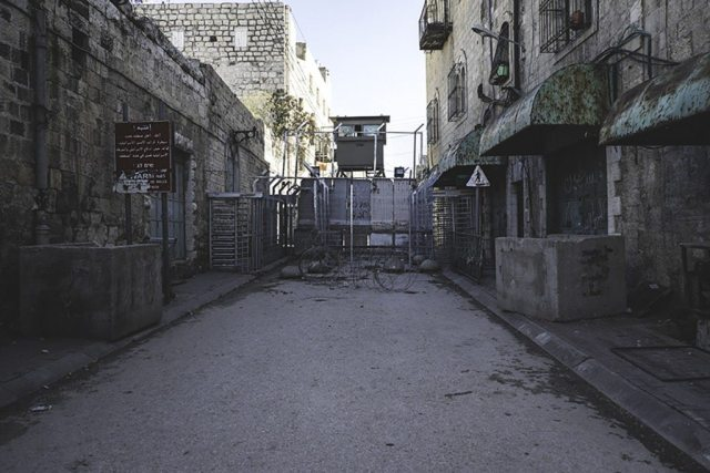 Al-Shuhada Street checkpoint in Hebron. At least three births have been documented at this checkpoint.