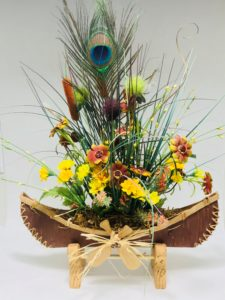 Canot fleuri