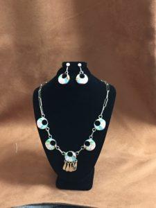 Collier et boucles d'oreilles Zuni sterling silver