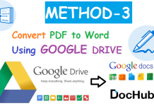 Convert PDF to Word Using Google Drive