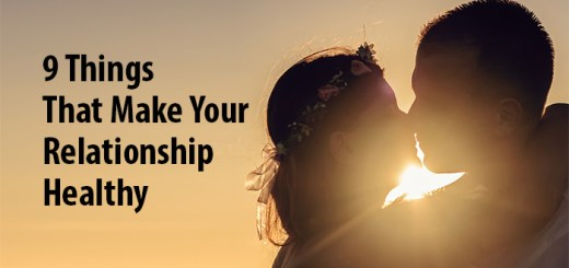 your relationship healthy
