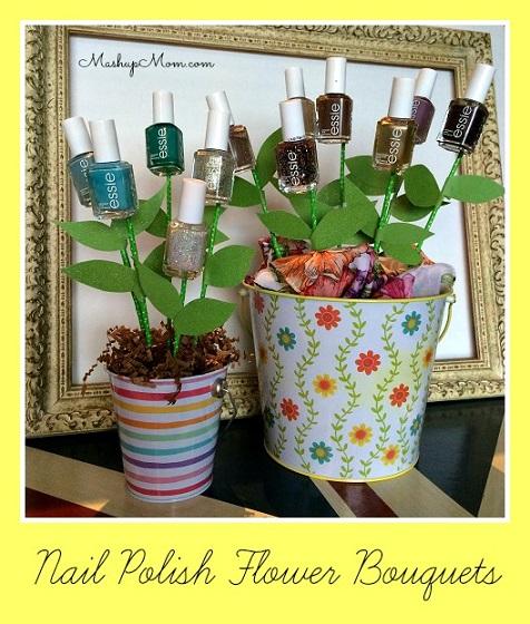 Easy DIY Nail Polish Flower Bouquet