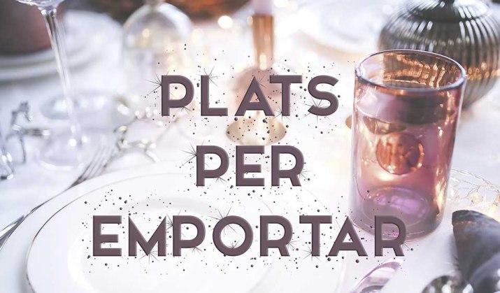 Plats per emportar per Nadal restaurant Masia del Pla