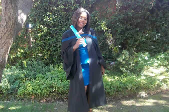 A proud new graduate