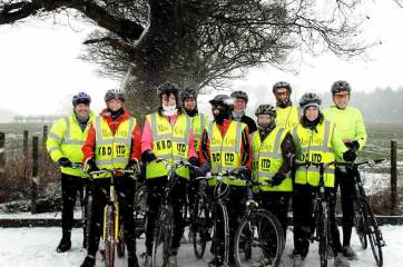 Sandra Dodson, a MasiCorp UK trustee, persuaded 16 intrepid cyclists to brave the Yorkshire elements on a 250k ride. The team raised over £3500