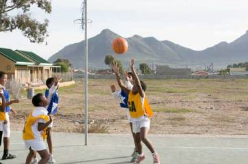 Ukhanyo School netball game