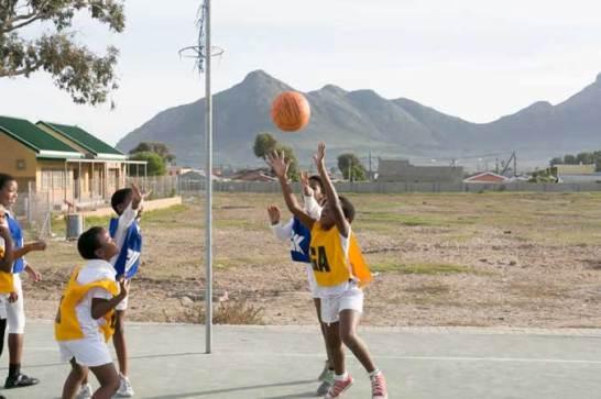 Ukhanyo School netball game