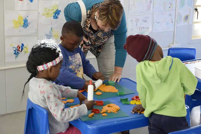 Volunteering Session at Masi Educare in Masiphumelele near Cape Town
