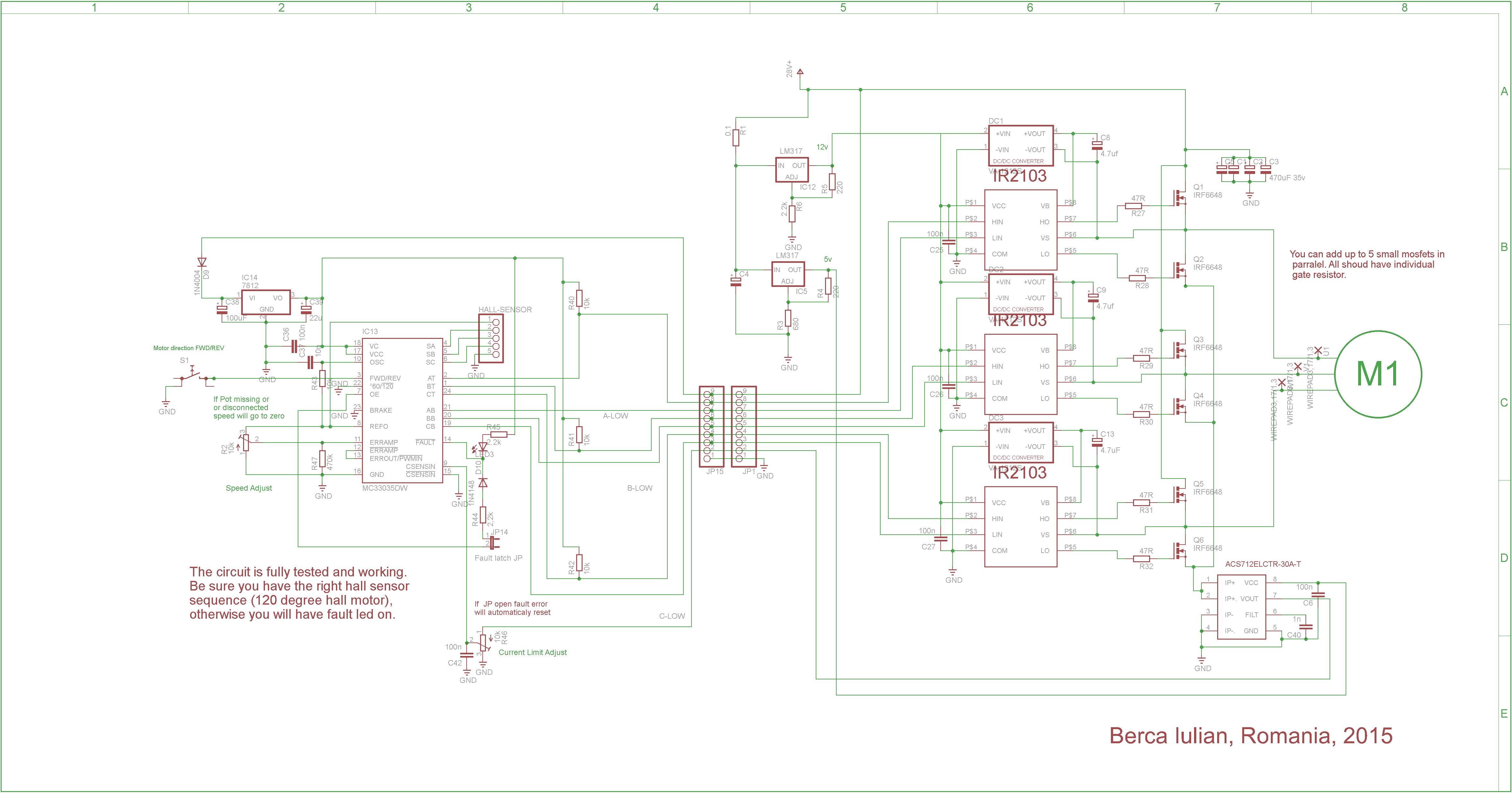 Updated Brushless Controller Schematic Brushless