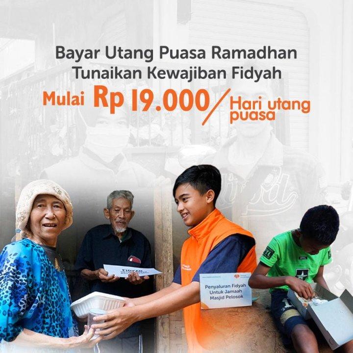 Bayar Fidyah Rp 19.000 untuk Dhuafa Pelosok
